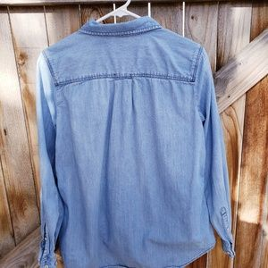 STYLUS Tops - Stylus cotton denim long sleeve shirt - HM